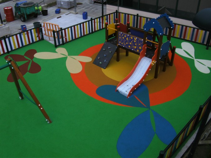 Manufacture, sale and installation of playground soil - RUBBER HORMISA